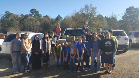 Students brought 538 canned goods to help families out during the holidays
